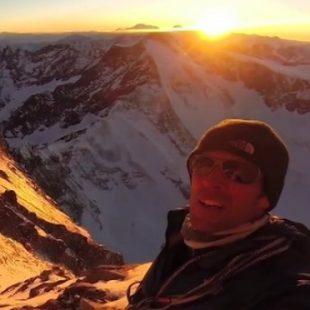 Herve Barmasse en el Matterhorn