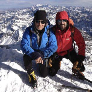 Carlos Soria y Sito Carcavilla en la cima del Huayna Potosí