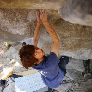 Toru Nakajima en The story of two worlds 8C de Cresciano  (Col. T. Nakajima)