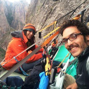 Cecilia Buil y Sergio Tiny Almada en Rastámuri a la Piedra Bolada (México)  (Col. C. Buil)