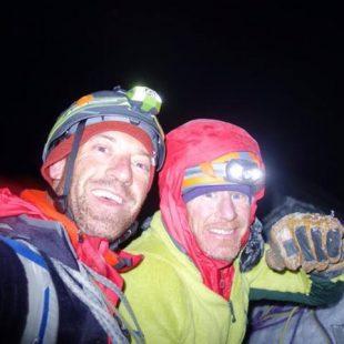 Kevin Cooper y Ryan Jennings en la cima del Mt. Johnson tras abrir Stairway to heaven  (Col. R. Jennings)