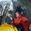 Kevin Cooper y Ryan Jennings en un vivac de Stairway to heaven a la cara norte del Mt. Johnson (Alaska)  (Col. R. Jennings)