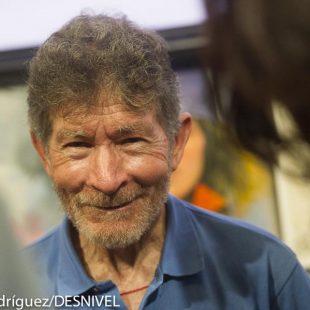 Carlos Soria en la Librería Desnivel (23 junio 2014) (Darío Rodríguez)