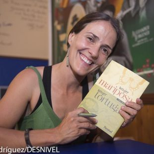 Pati Blasco en la presentación de su libro Mujer mariposa