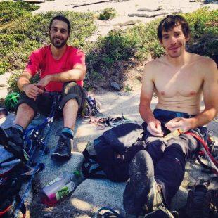 David Allfrey y Alex Honnold en Yosemite durante su proyecto 7in7 (junio 2014)  (Col. A. Honnold)