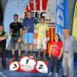 Podio masculino de la Copa de España de Escalada en Bloque 2014 en Reus: 1º Pol Roca