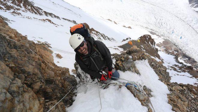 Miguel Ángel Pérez en la Chimenea House del K2 (2014)  (© Ferrán Latorre)