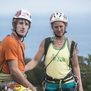 James Pearson y Caroline Ciavaldini en la isla de la Réunion  (Damiano Levati/Ricky Felderer/ The North Face)