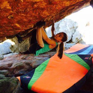 Brooke Raboutou encadena Fragile steps su primer 8B a los 13 años  (Col. Raboutou)