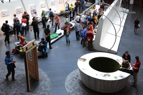 Exposición de los productos ganadores del premio Outdoor 2014
