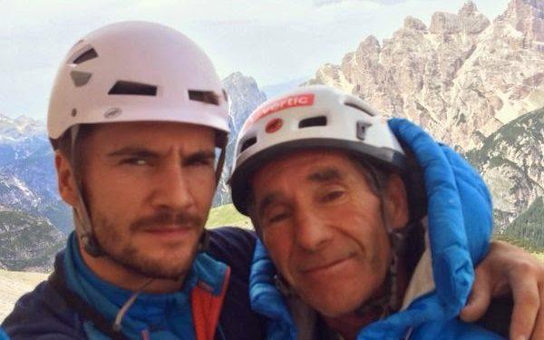 Edu Marín (28 años) y su padre Novato (61) en Pan Aroma