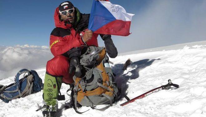 Radek Jaros en la cima del K2  (Col. R. Jaros)