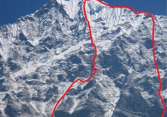 Línea de ascenso y descenso de Alexey Lonchinsky y Alexander Gukov al Thamserku Anna Piunova  (Anna Piunova)