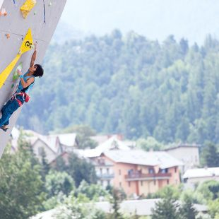 Sachi Amma en la Copa del Mundo de Dificultad 2014 de Briançon (Heiko Wilhelm/IFSC)