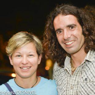 Muriel Sarkan y Urko Carmona  ganadores de los premios Rock Legends 2014 en las categorías Rock Award and Rock Competition  (© Darío Rodríguez/DESNIVEL)