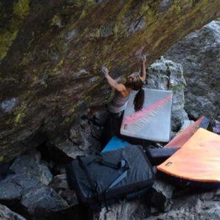 Alex Puccio en Jade 8B+ de Rocky Mountain National Park (Joel Zerr)