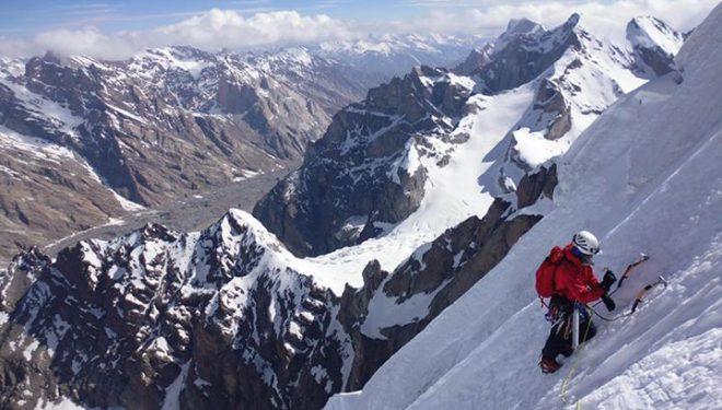 Sidarta Gallego en la Via Grifone al Kange Ri (Ladakh)  (Oriol Baró)