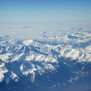 Fotografía aérea de las montañas del Tirol austríaco (Hansueli Krapf)