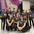Equipo de árbitros en el acto de inauguración del Campeonato del Mundo de Escalada de Gijón2014  ()