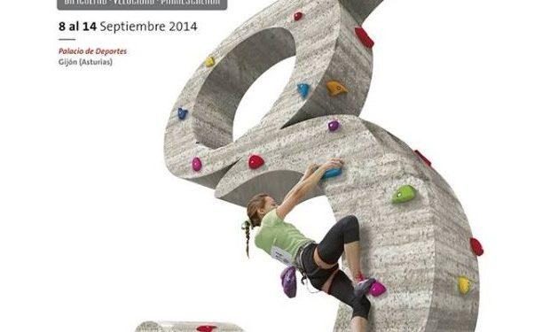 Cartel del Campeonato del Mundo de Escalada en Gijón. ISFC 2014  ()