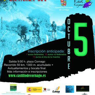 Cartel oficial de la V Marcha BTT Castillo de Cornago.  ()
