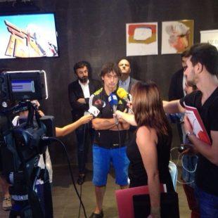 Patxi Arocena en la rueda de prensa presentación Campeonato Mundo Escalada de Gijón 2014  (© Patxi Arocena)