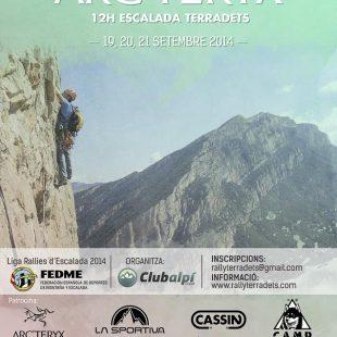 Cartel de la 5ª edición del Rally Arc'teryx 12h Escalada Terradets 2014  (Rally Arc'teryx 12h Escalada Terradets)