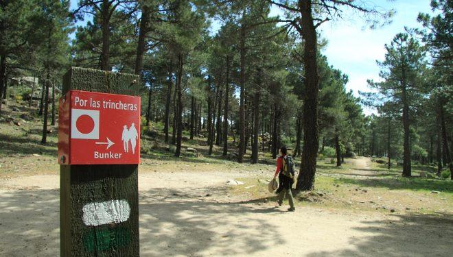 Panel del sendero Por las Trincheras
