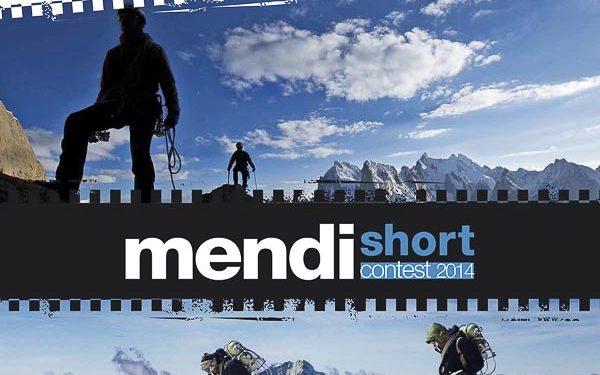 Cartel de la primera edición del festival de cortometrajes de monaña Mendi Short. 2014 (Bilbao Mendi Film Festival)