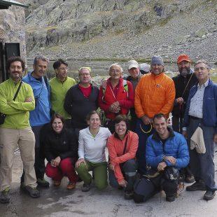 Algunos asistentes a la XXV Reunión Escaladores del Game (2014) realizada en el Circo de Gredos  (Angel Pablo Corral)