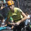 Rut Casas Mur compitiendo en categoría Sub16 en la primera prueba Copa España Escalada Dificultad juvenil 2014