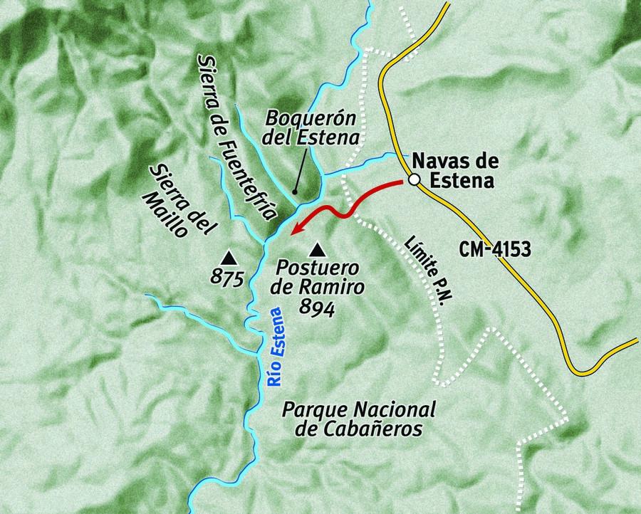 Ruta del Boquerón del Estena por Ciudad Real y Toledo