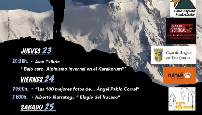 Cartel de la VIII Semana de Montaña de Tres Cantos. 2014  (Ayuntamiento de Tres Cantos)
