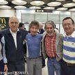 Carlos Soria a su regreso a Madrid tras intentar el Shisha Pangma con sus amigos de toda la vída.  Faustino Durán