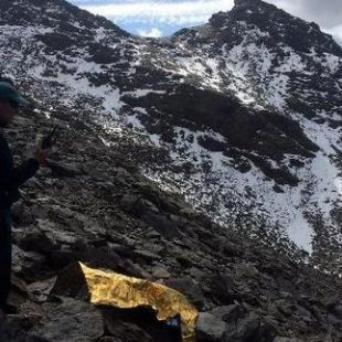 El cuerpo del infortunado montañero apareció bajo los Tajos de la Virgen.  (Guardia Civil)