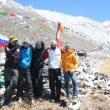 La expedición al completo en el CB en la ruta británica del Kangchenjunga 2014.  ()