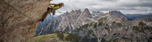 Dave MacLeod en Project Fear 8c a la Cima Ovest de Lavaredo (Dolomitas)  (Matt Pycroft/Coldhouse Collective)