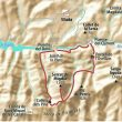 Mapa de la subida al Serrat del Migdia en la Sierra de Picancel.  ()