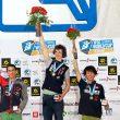 Podio masculino de la prueba de la Copa del Mundo de Kranj 2014: Adam Ondra (1º)