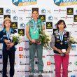 Podio femenino de la prueba de la Copa del Mundo de Kranj 2014: Mina Markovic (1ª)