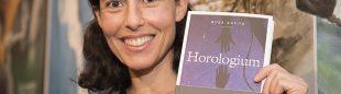 Rosa Agudo en la presentación de Horologium