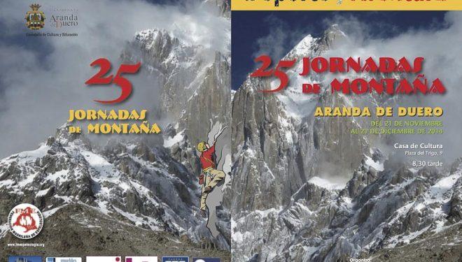 Cartel de las Jornadas de Montaña de Aranda de Duero 2014  (©Organización)