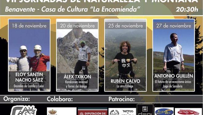 Cartel de las VII Jornadas de Naturaleza y Montaña de Benavente. 2014  (Organización jornadas)