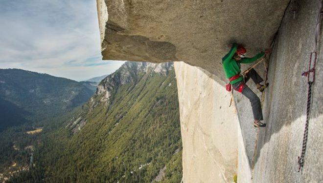Jorg Verhoeven en libre en The nose al Capitan (Yosemite) (Col. J. Verhoeven)