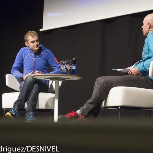 Alberto Iñurrategui y Oscar Gogorza en la conversación que mantuvieron