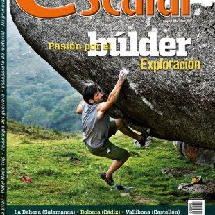 Portada de la revista Escalar nº 95. Pasión por el búlder exploración. [WEB] ()