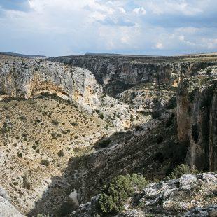 Vista del barranco del Mortero