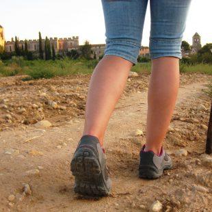Una caminante llega a Santes Creu  (Cortesía Ruta del Císter)