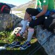 Manuel Merillas en los Lagos de Covadonga realizando -junto con Fran Piñera- El Anillo de Picos de Europa Invernal el 3 de agosto