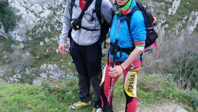 Fran Piñera y Manuel Merillas que realizaron el Anillo de los Picos de Europa Invernal los días 3 y 4 de enero 2015 en 32 horas y 50 minutos.  (© Mammut)